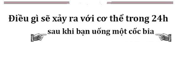 Co the ban bien doi nhu the nao sau khi uong bia