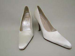 Christian Dior White Satin Pumps