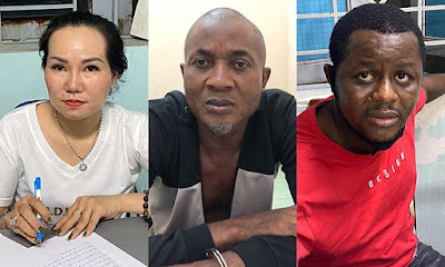 Two Nigeria men  and a woman arrested in vietnam