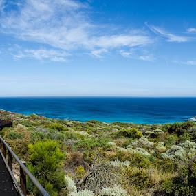 Western Australia Coastline by Gene Walker - Landscapes Beaches ( cities, australia, holidays, places, wa, photo, photography, panoramic )