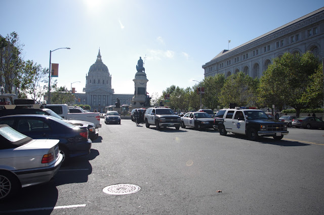 Another view of the police cars.