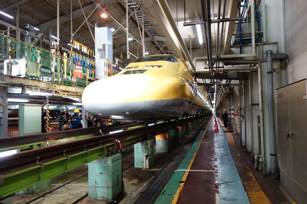 色い新幹線ドクターイエローと名古屋車両所