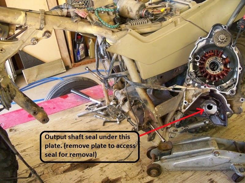 Front Sprocket Seal Leaking