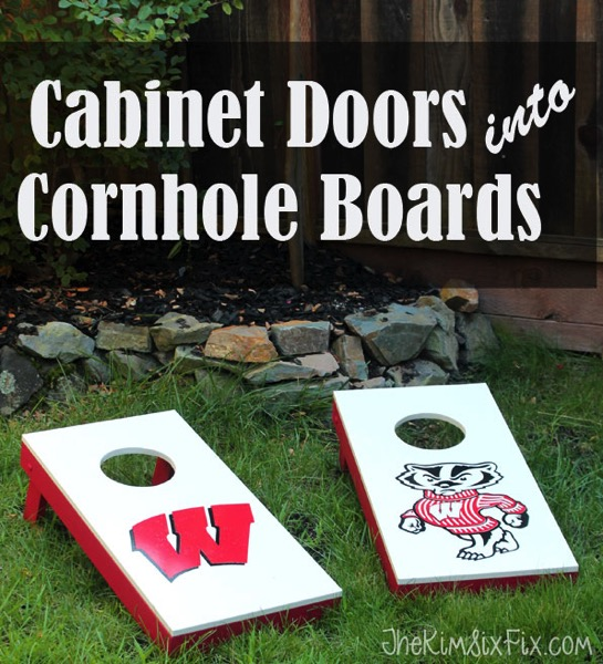 Cabinet doors into cornhole boards