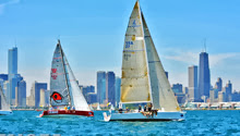J/111s starting off Chicago- Mac Race