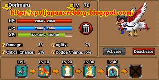 Skill-Skill Pet Dorimaru Ninja Saga