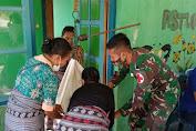 Gelar Posyandu, Satgas Yonarmed 6/3 Kostrad Jamin Tumbuh Kembang Balita di NTT