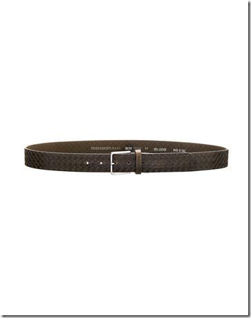 Trussardi Jeans Cintura Pelle Liscia Stampata