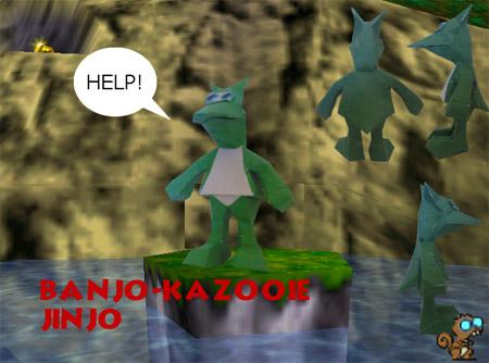 Banjo Kazooie Jinjo Paper Model