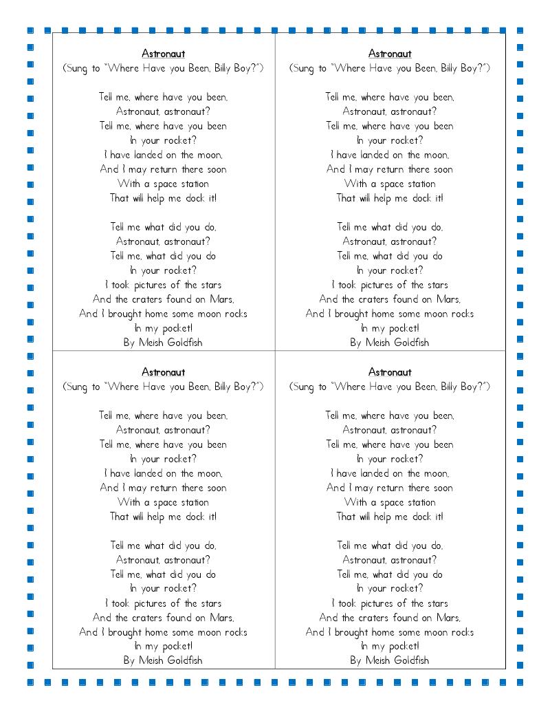 classroom solar system poem - photo #10