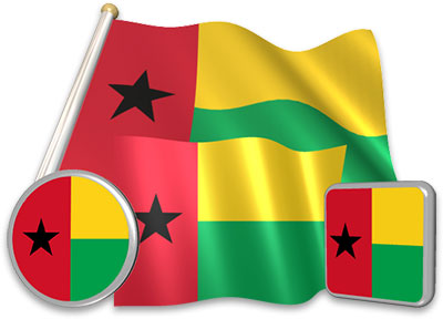 Bissau Guinean flag animated gif collection