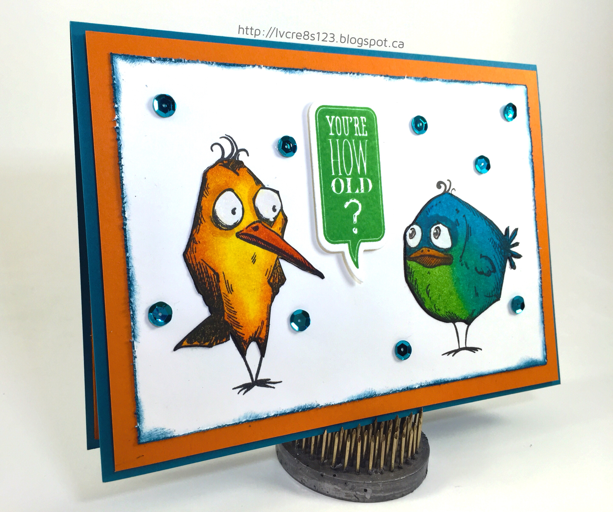 Crazy Birds Birthday Card
