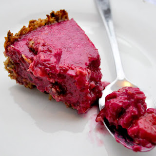 Allergy-Free Beet and Berry Christmas Tart.