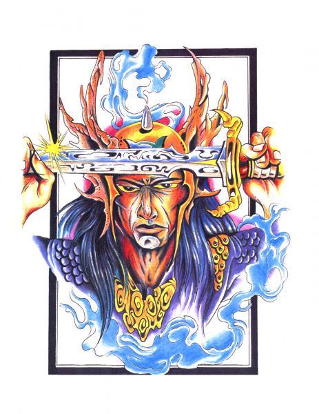 Design Of Magick Tattoo 9, Fantasy Tattoo Designs