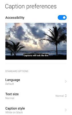Live Caption Chrome Android