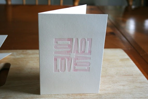 This letterpress beauty is from Moontree Press. http://www.etsy.com/listing/65264177/love-letterpress-card