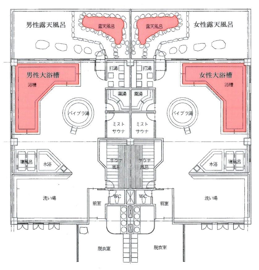北竜温泉配置図