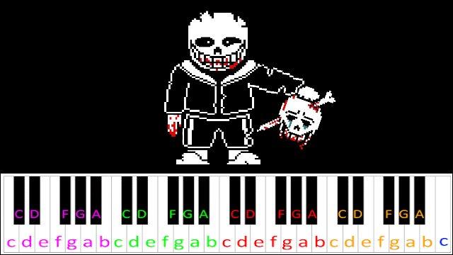 Megalovania (Undertale) Hard Version ~ Piano Letter Notes