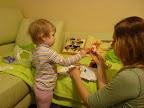 """""""Сделай новогоднюю игрушку сам"""" - Настя разукрашивает...Почти САМА :))) Два года и 2.5 месяца"""