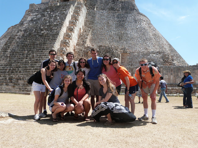 The UVA team in front of the Sorcerer's Pyramid.