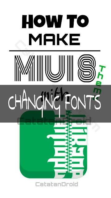 Cara Permanen Mengganti Font Di MIUI 8 dengan Menyertakan Font yang diinginkan Di dalam Tema MIUI 8