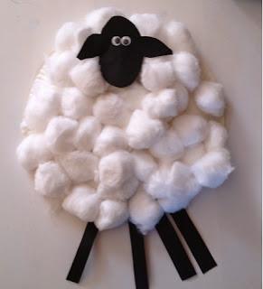 paper plate craft lamb Genesis Isaac