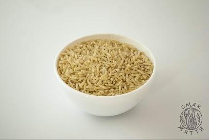 Рис бурий нешліфований
