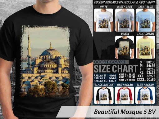 Kaos Muslim Islam Beautiful Mosque 5 distro ocean seven