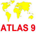 ATLAS9 Topography trainer / World map quiz icon