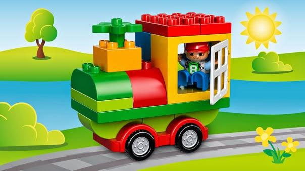 Sản phẩm xếp hình Lego 10572 Thùng gạch Duplo vui nhộn làm từ chất liệu nhựa ABS rất bền đẹp