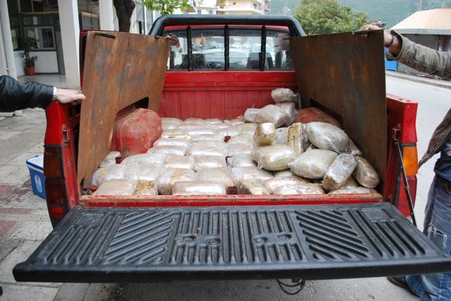 Συνελήφθη 37χρονος στην Ηγουμενίτσα με πάνω από 66 κιλά κάνναβης
