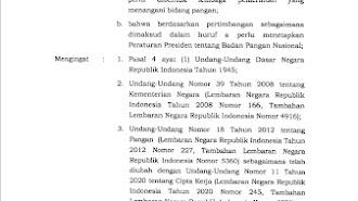 Jokowi Resmi Bentuk Badan Pangan Nasional