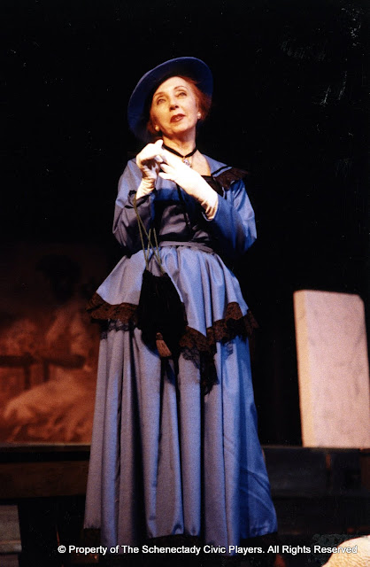 Carol Jones in LOOK HOMEWARD, ANGEL (R) - March 1994.  Property of The Schenectady Civic Players Theater Archive.