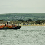 Poole's Tyne class lifeboat heading towards Poole Harbour after her Sunday morning exercise on 9 June 2013 Photo: Will Collins