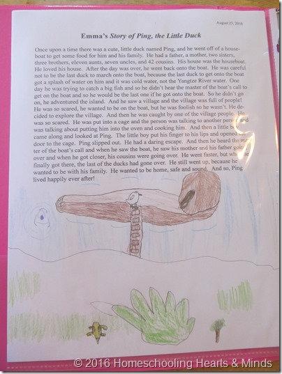 Rowing the Story about Ping at Homeschooling Hearts & Minds