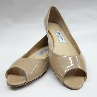 Jimmy Choo Peep Toe Flats