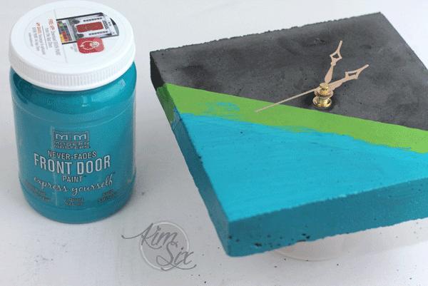 Painting concrete clock