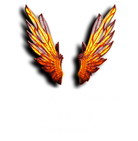 Phoenix Content Solutions logo white