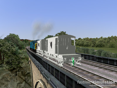 Fastline Simulation: dia 1/507 brake van that will be included in the VDA stock pack for RailWorks under test.