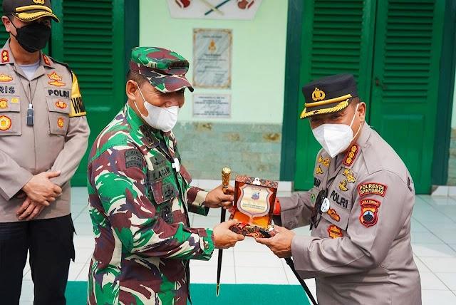 Kunjungan Silahturahmi Kapolresta Banyumas Baru Diterima Danrem 071/Wijayakusuma