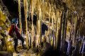 Tony White in the Egyptian Room, Whiterock Cave, Gunung Api, Mulu 2013 | photo © Andy Harp
