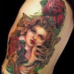 rose girl - tattoos for women