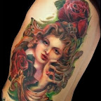 rose girl - tattoos for women