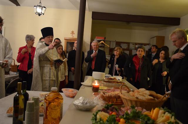 Fr. John blessing the Paschal foods