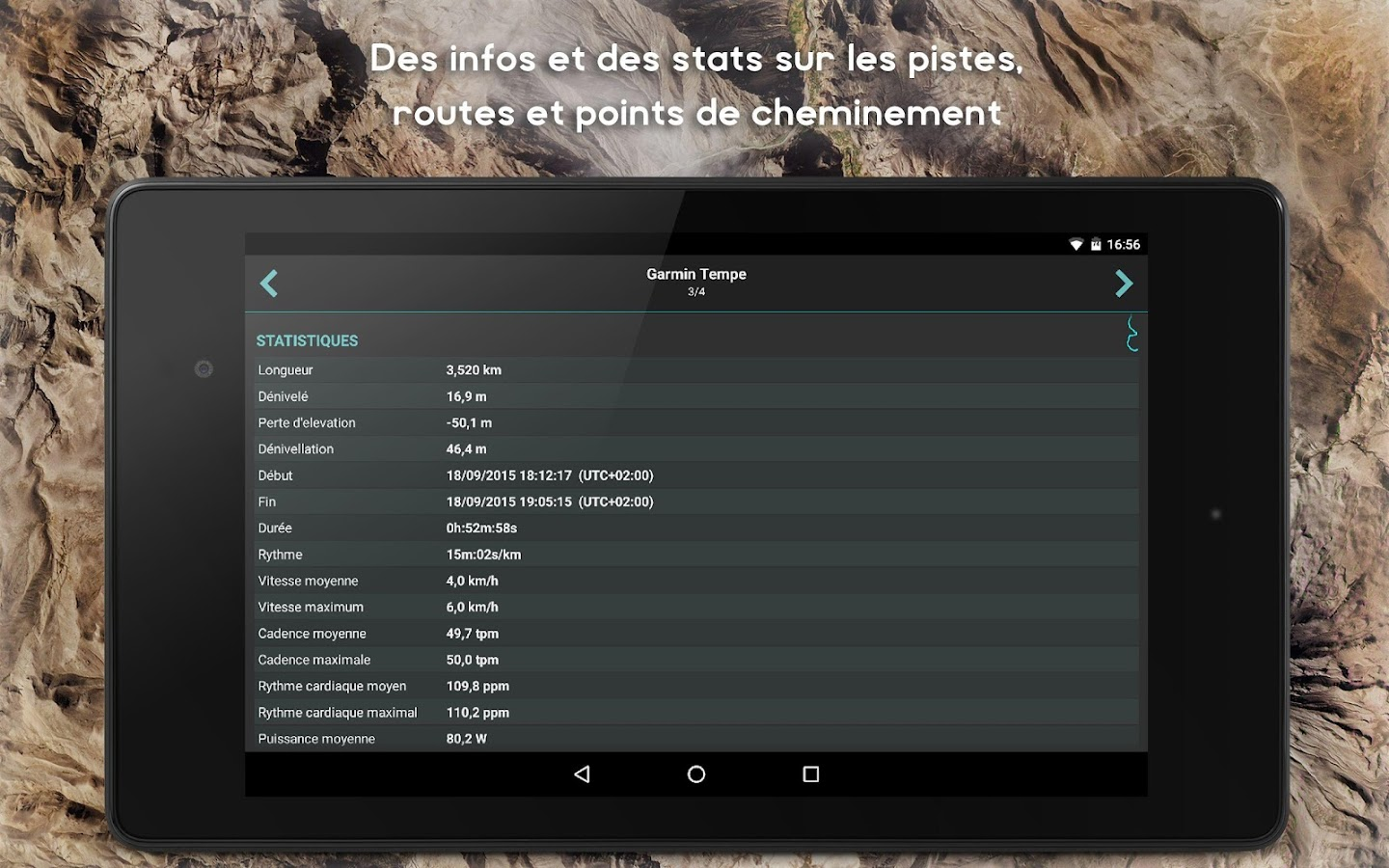 GPX Viewer - Pistes, routes et points – Capture d'écran