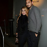 WWW.ENTSIMAGES.COM -          Uzma Yakoob of 'The Apprentice' arriving at Nobu Berkeley Street Mayfair with her special man to dine celebrating her birthday Jan 8th 2014.                                                 Photo Mobis Photos/OIC 0203 174 1069