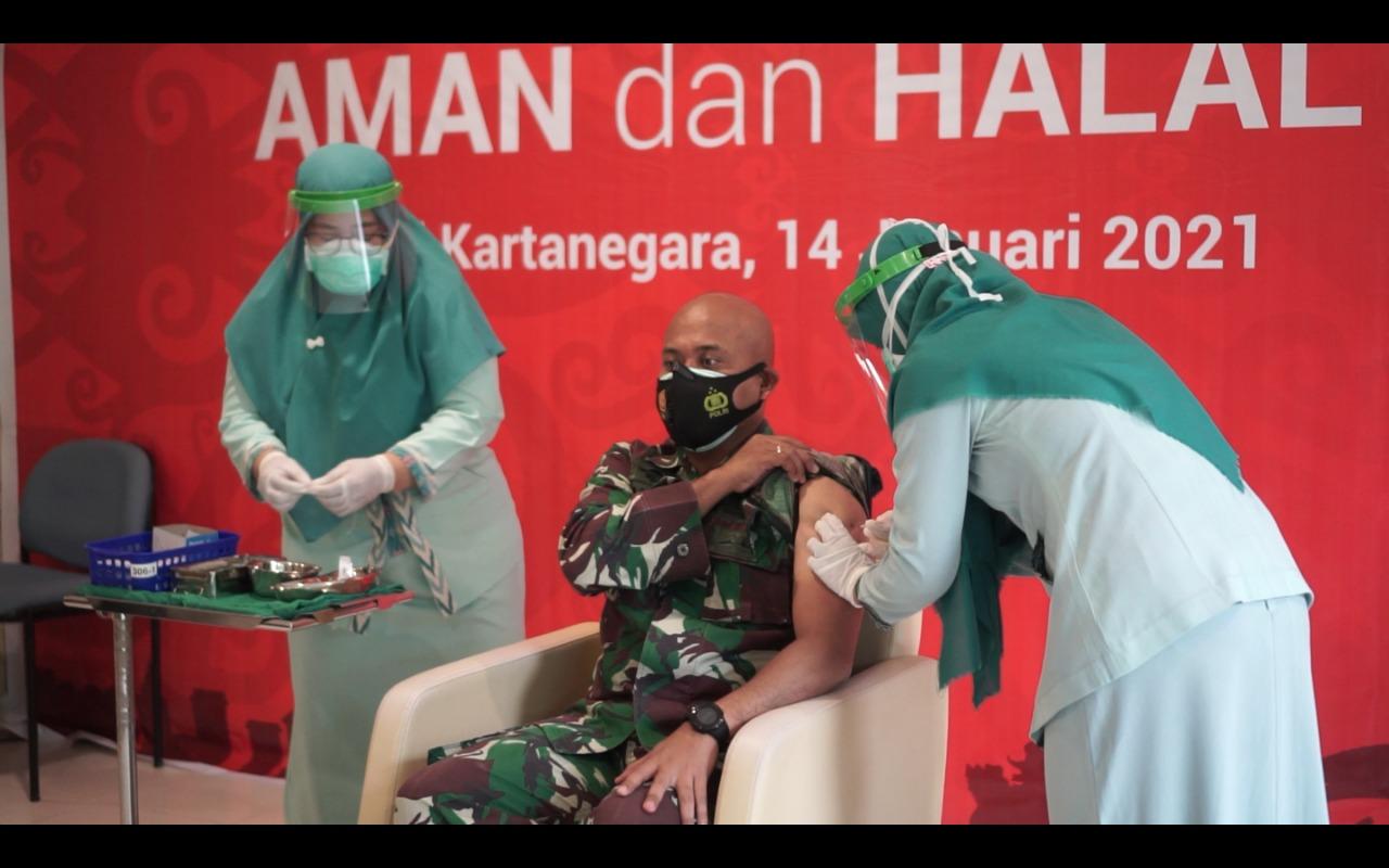 Vaksin perdana di Kukar, Dandim : jangan khawatir vaksin ini aman