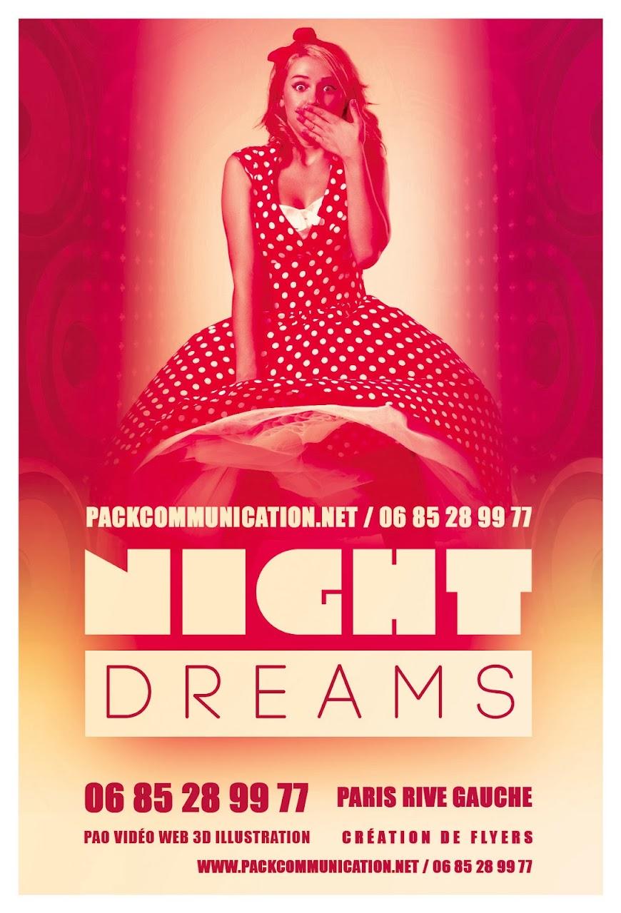 création flyers soirées thème Night Dreams