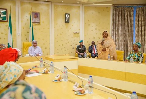 The first lady of Nigeria, Aisha Buhari, Wife of The Vice President, sd news blog, presidential Villa, Future Assured program, Aisha buhari future assured program, Instagram viral videos, yemi osibanjo, shugasdiary news blog, shugasdiary.com.ng