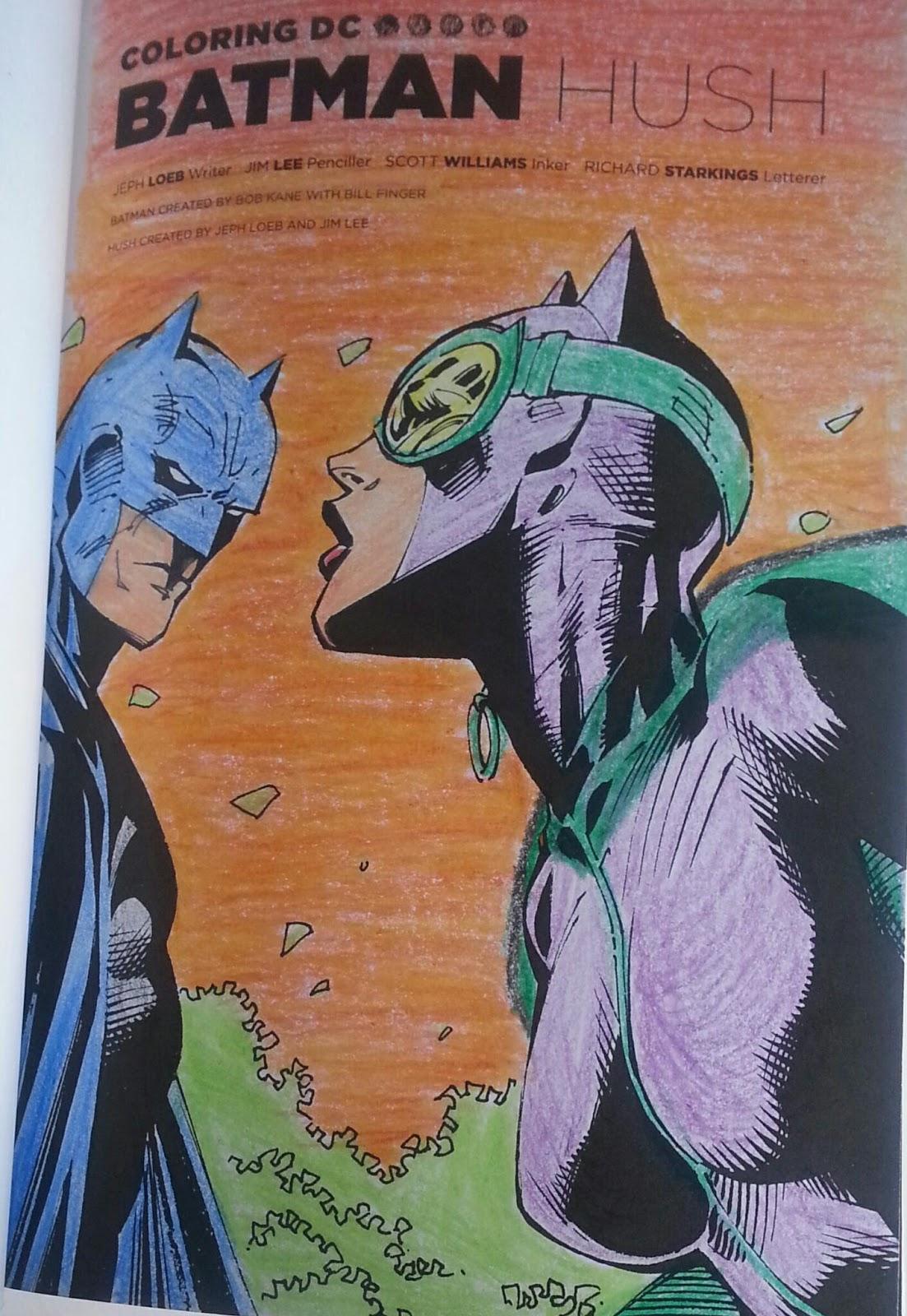 Comic Book Rehab Art Therapy Batman Hush Coloring Part 1